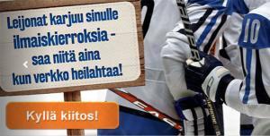 Suomiautomaatti - Leijonat ilmaiskierroksia